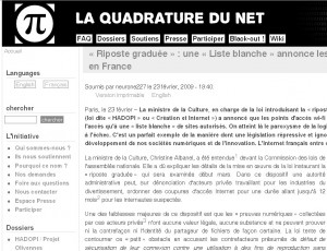 Article de la Quadrature du Net