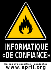 sticker informatique de confiance - APRIL